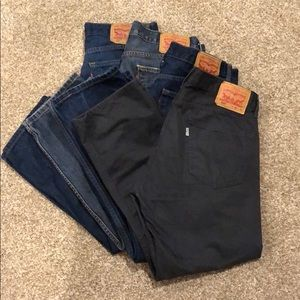 LOT OF 4 Levi's 505 Jeans 34/29 worn once!